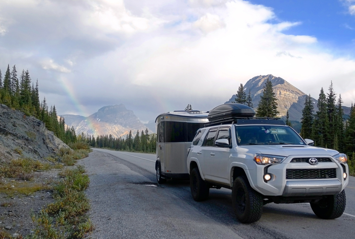 Toyota 4Runner towing Airstream Basecamp