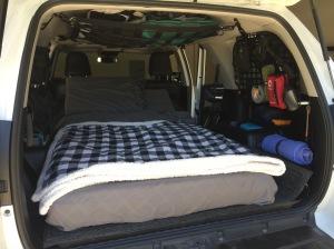 4Runner sleeping setup